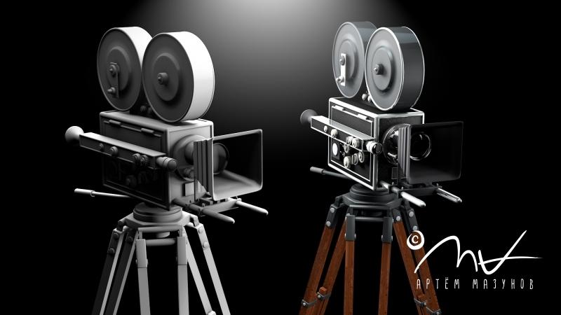 Movie retro cameras