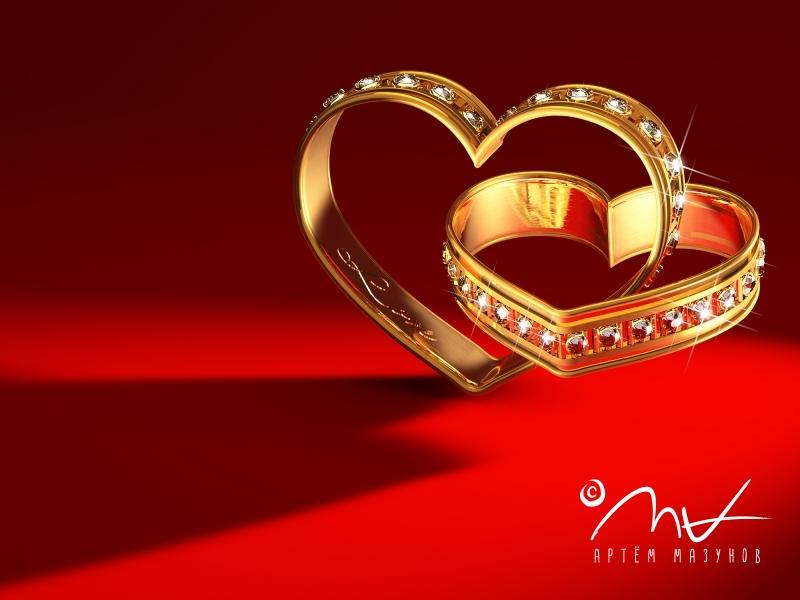 heart-shaped rings